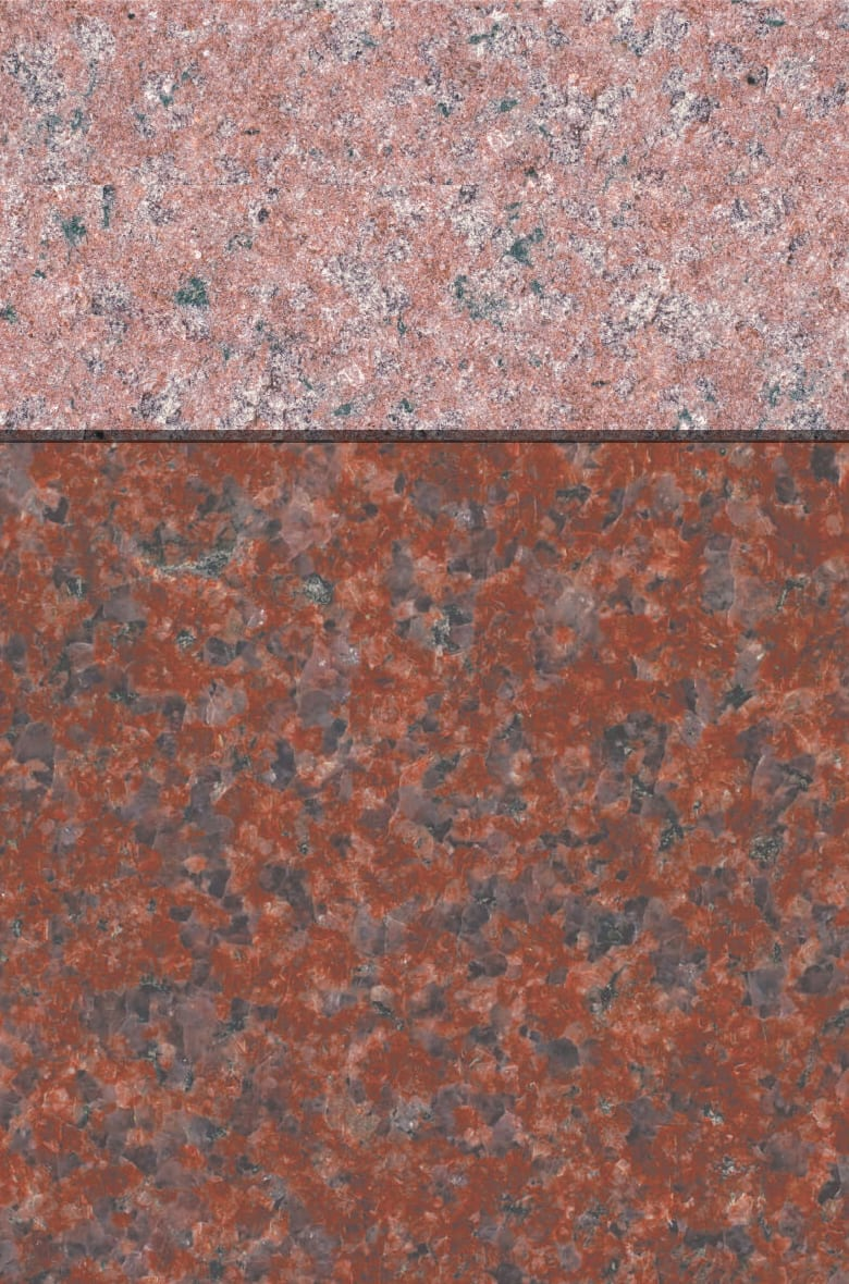 Granite Gallery Rock of Ages: CRIMSON RED